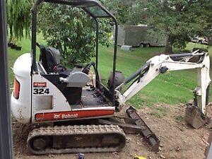 2010 324 M mini bobcat excavator