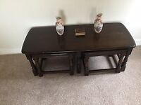 Coffee table with two small tables