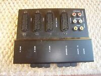 Scart and audio interface unit