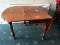 Drop leaf table, seats 6 to 8