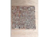 Eight sheets of lovely red marble mosaics 15 x 15 BARGAIN