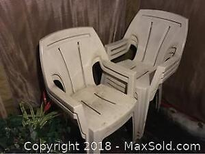 Set Of 5 Garden Patio Chairs