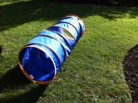 Children's adventure play tunnel for indoor or outdoor use