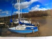 Sailing Boat with outboard & Trailer
