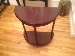 cherry coloured accent table
