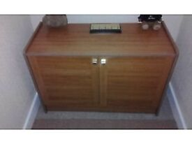 old style record cabinet from the 1980s can be used as sideboard