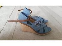 Brand new ladies denim wedges from M&S size 6