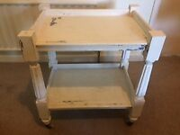 Shabby Chic Wooden Trolley- Annie Sloan/Vintage/retro/french style