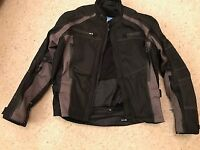 2pce FRANK THOMAS TEXTILE SUIT; SIZE XL; TOTALLY WATERPROOF & HARDLY USED £90ono