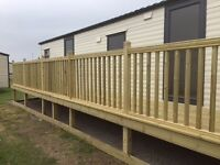 holiday; 3 bedroom brand new static caravan to rent. Fontygary, South wales. available 15-20 August