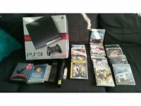 SONY PS3 250GB MODEL FULLY BOXED WITH GAMES ACCESSORIES AND EXTRAS AS NEW SELLING FOR £125