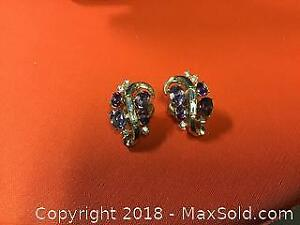 Vintage Costume Jewelry Trifari Signed Earrings