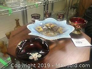 6 Piece Depression Glass Amberina