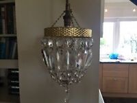 Two Vintage french small chandeliers
