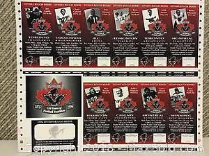 Uncut Sheet of Ottawa Roughriders Tickets