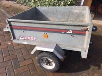 Galvanised ERDE 101 Tipping Trailer.