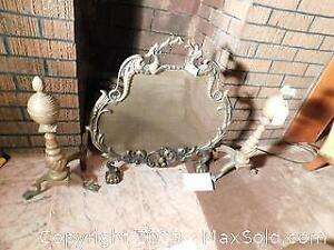 Andirons and Fire Screen B