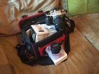 Canon Ef 75-300mm camera with case for sale
