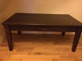 IKEA dark brown coffee table