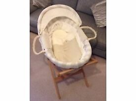 Mamas & Papas Once Upon A Time Set Moses Basket, Bedding & Accessories (Also Selling per item)