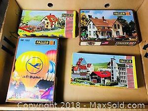 VINTAGE FALLER HO SCALE TRAIN LAYOUT ACCESSORY MODEL KITS MINT BOXED