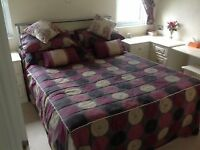 Double Bed & base with drawers & including mattress.