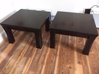 Solid wood chunky coffee tables - dark wood, very good condition