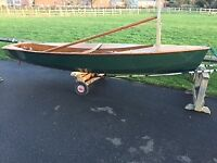 Vintage Solo Sailing dingy and road trailer for sale