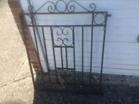 Wrought Iron Garden Gate (820mm wide by 1040mm tall)