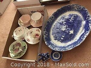Teacups, Platter And More A