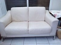 2 x 2 Seater Leather Sofa's