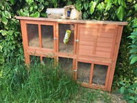 Large Two Storey Rabbit etc wooden hutch - almost brand new (from Pets at Home)