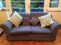 Pale blue Laura Ashley two seater sofa in excellent condition