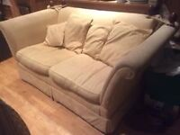Hardwood framed Laura Ashley Langham 2 seater sofa reupholstery project H89cm W178cm D95cm