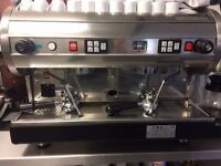 COMMERCIAL AUTOMATIC ESPRESSO COFFEE MACHINE WITH COFFEE GRINDER