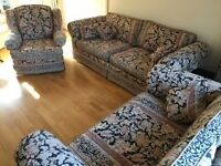 3 piece Derwent suite, 4 and 2 seater sofas, armchair plus additional armchair. £350 but will split.