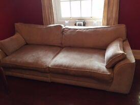 DFS 4 seater chenille sofa