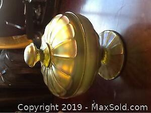 Carnival Glass Bowl With Lid