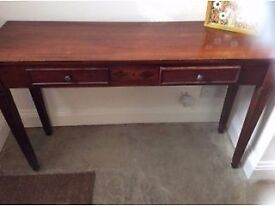 Lovely hall console table in dark wood