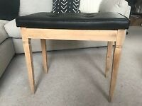 Refurbished Piano stool with storage for sale