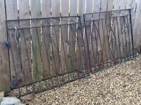 Black iron gates for sale