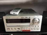 TEAC CD/DAB receiver CR H255 silver with remote, excellent condition