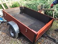 Utility car trailer (unbraked),6ftx4ft.