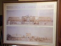 Framed Architechtural Print of the ancient Roman port of Ostia