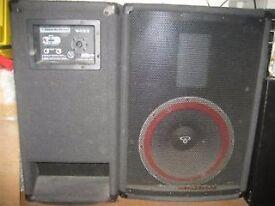 CERWIN-VEGA V-122 12inch speaker full range PA cabinets - 300Watts each.