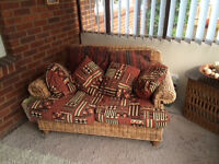 Conservatory sofa and armchair