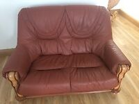 2 seater terracotta sofa