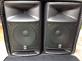 Yamaha Stagepas 500 with 2 stands and portable case. Excellent condition