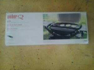cast iron Weber Q griddle - unused in box Black Forest Unley Area Preview