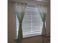 Olive & Henry (Babies r us) curtains with matching ties and musical cot mobile.